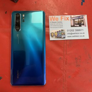 Huawei mobile phone with repaired back
