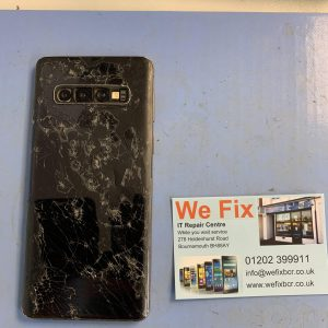 Image of Samsung S10 Smashed cracked back panel repair bournemouth