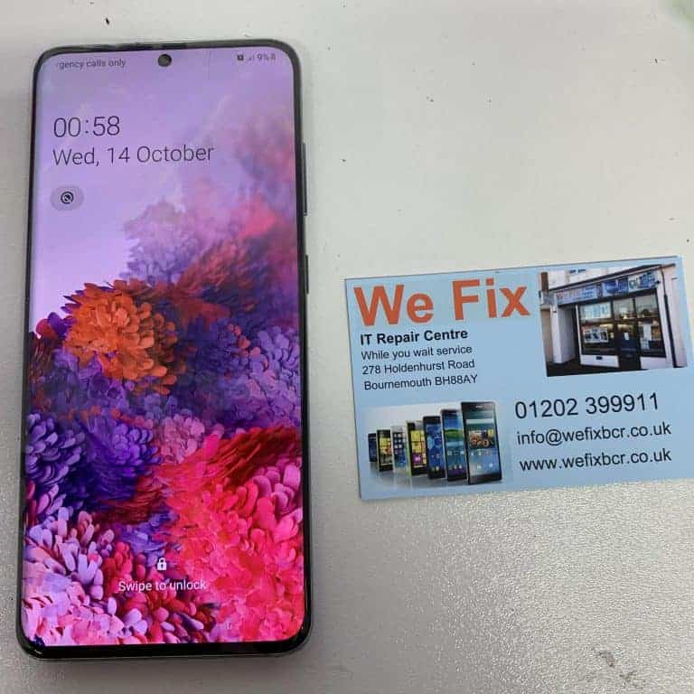 image of Samsung A50 screen repairs Bournemouth