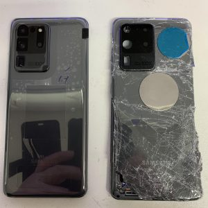image of S20 Ultra New and Old back and side by side