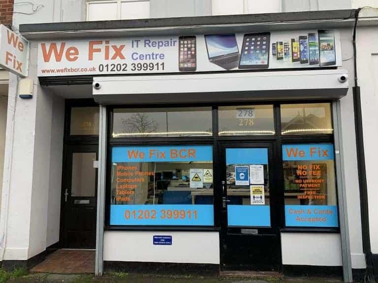 Image of outside We Fix BCR Shopfront