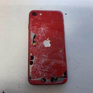 Image of iPhone 8 with a cracked back glass - repair in Bournemouth