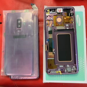 Image of A Samsung Galaxy S9 Service Pack and new back glass for repair in Bournemouth