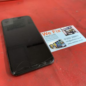 iPhone X with a cracked screen for repair Bournemouth