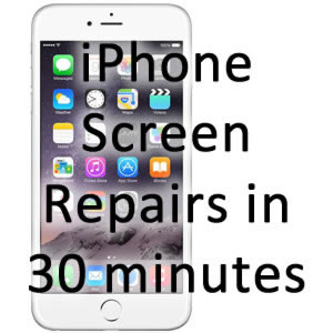 image showing iPhone 7 and 7 plus screen repaired in 30 minutes