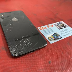 iPhone X with Cracked Back for repair Bournemouth