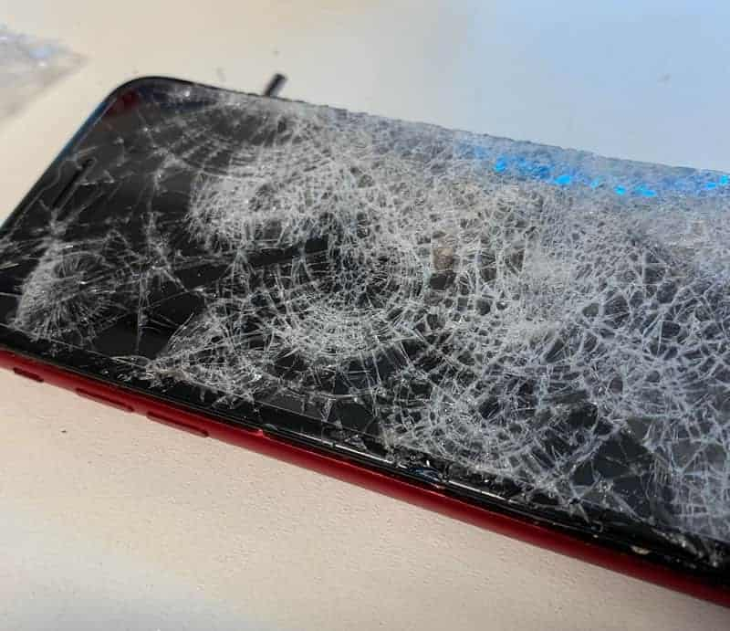 Image showing Crushed, Smashed iPhone for repair