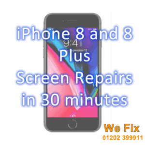 iPhone 8 screen repairs Bournmouth in 30 minutes