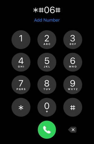 iPhone - Find your IMEI Number